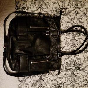 Cole Haan black leather crossbody